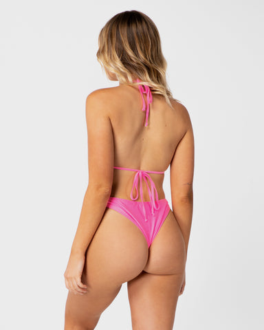 <b>Colombia</b><br>Pink Grapefruit Cheeky Bottoms<br>Sustainable Australian Swimwear