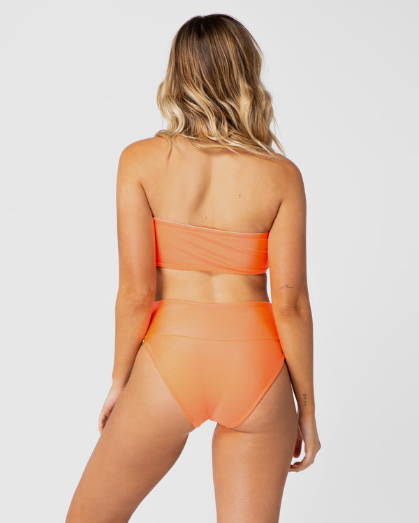 <b>Jamaica</b><br>Orange High Brief<br>Sustainable Australian Swimwear