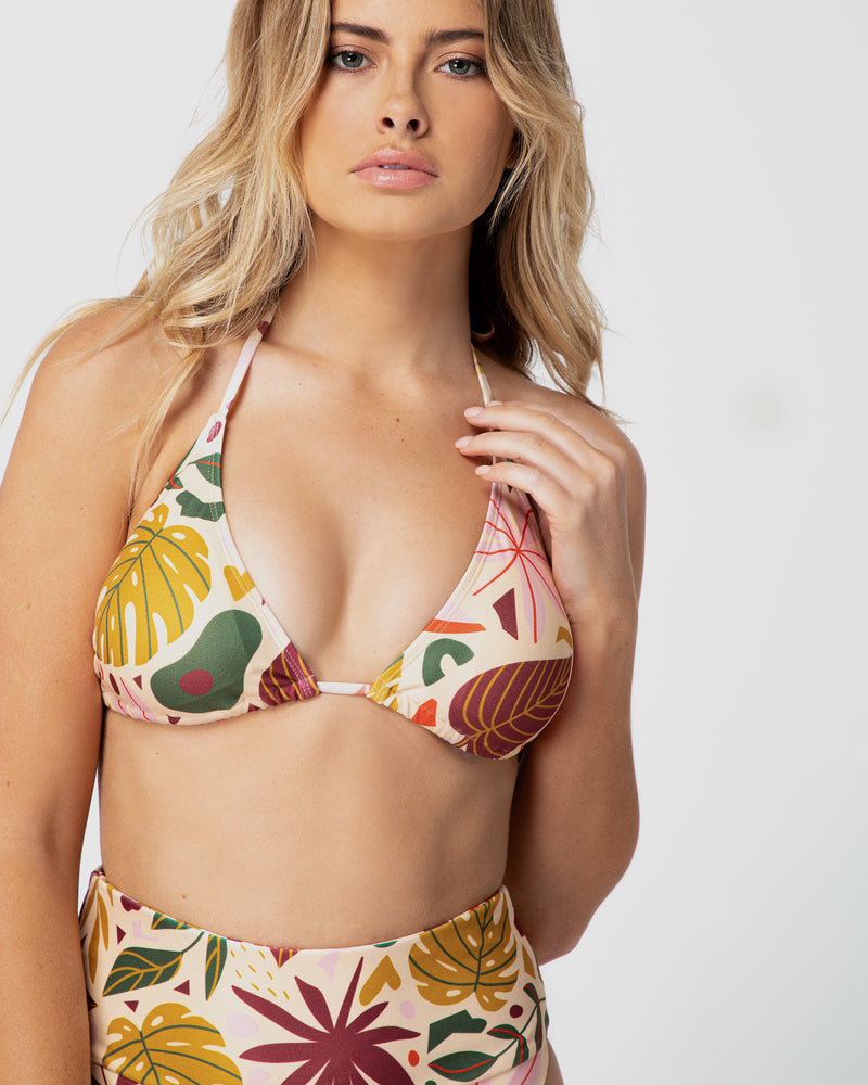 <b>Bora Bora</b><br>Tropical Halter Top<br>Sustainable Australian Swimwear