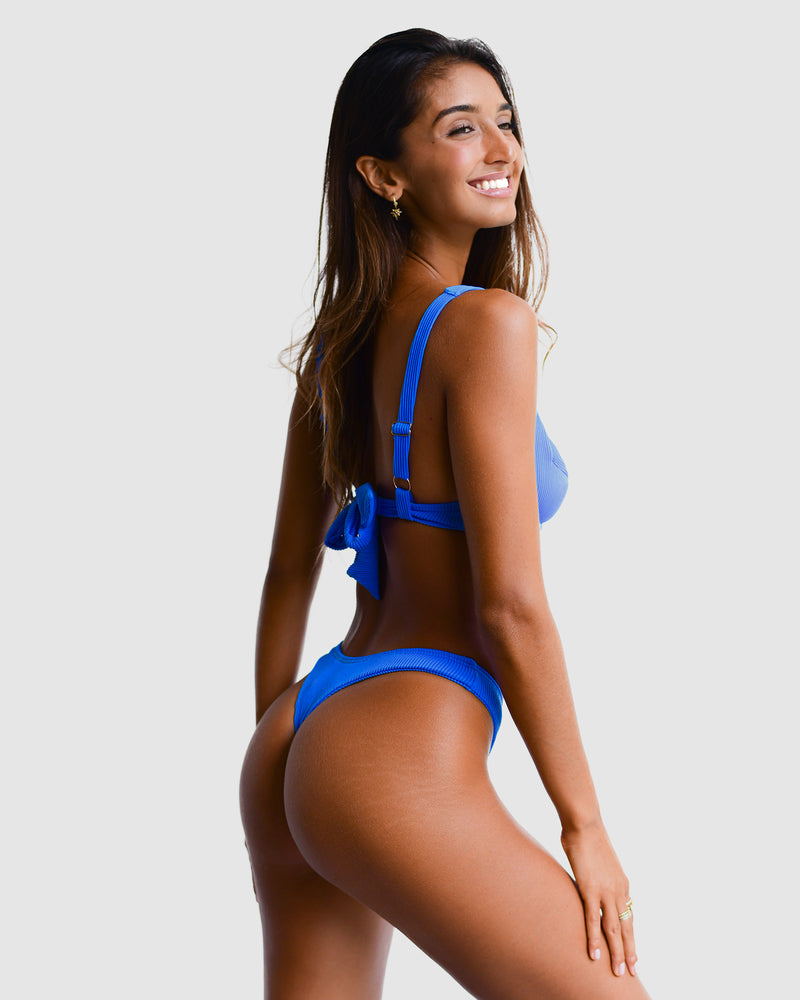 <b>Barbados</b><br>Blue Underwire Top<br>Blueberry Scented<br>Sustainable Australian Swimwear
