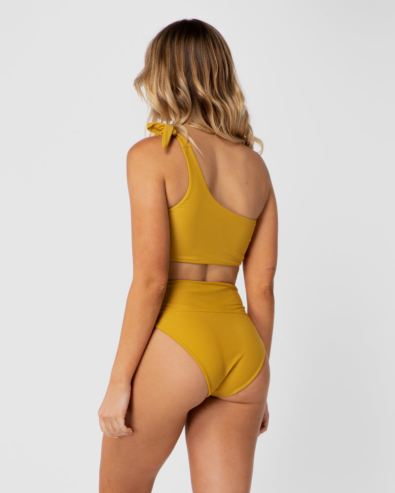 <b>Tulum</b><br>Pineapple Shouldered Top<br>Sustainable Australian Swimwear
