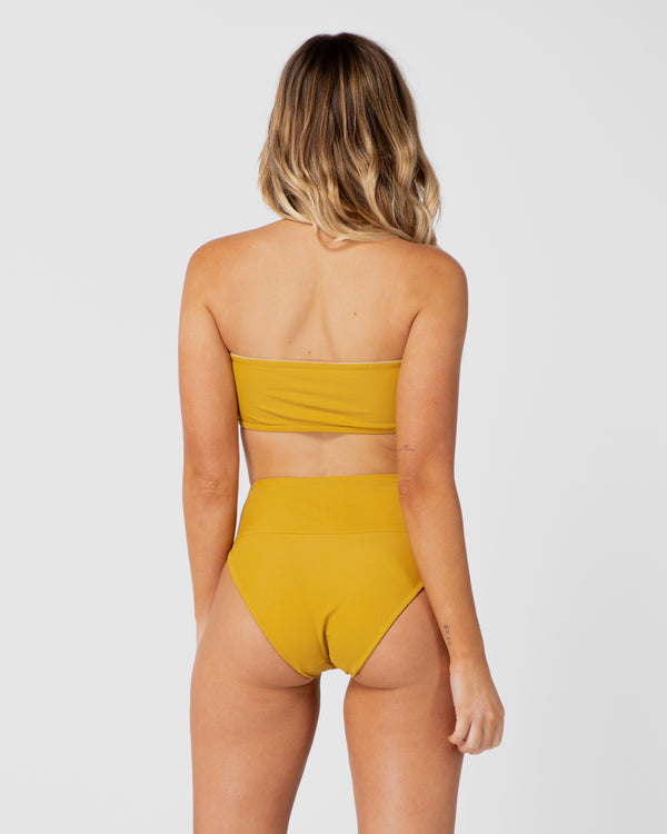<b>Jamaica</b><br>Pineapple High Brief<br>Sustainable Australian Swimwear