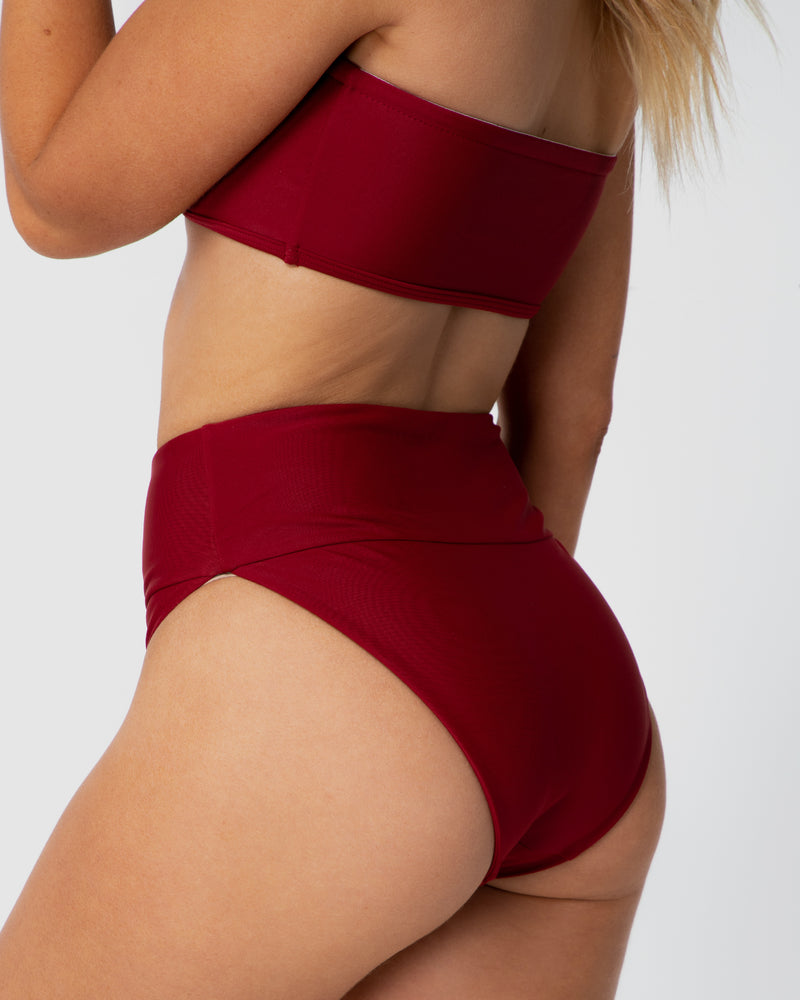 <b>Jamaica</b><br>Pomegranate High Brief<br>Sustainable Australian Swimwear