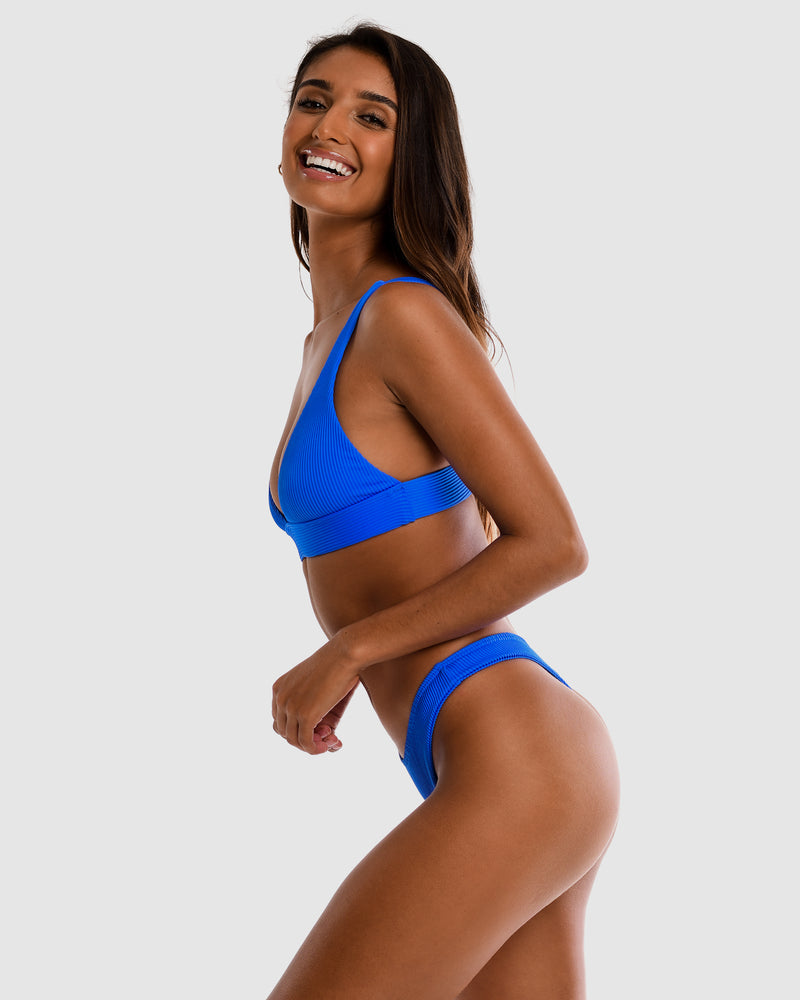 <b>Chile</b><br>Blueberry Triangle Top<br>Sustainable Australian Swimwear
