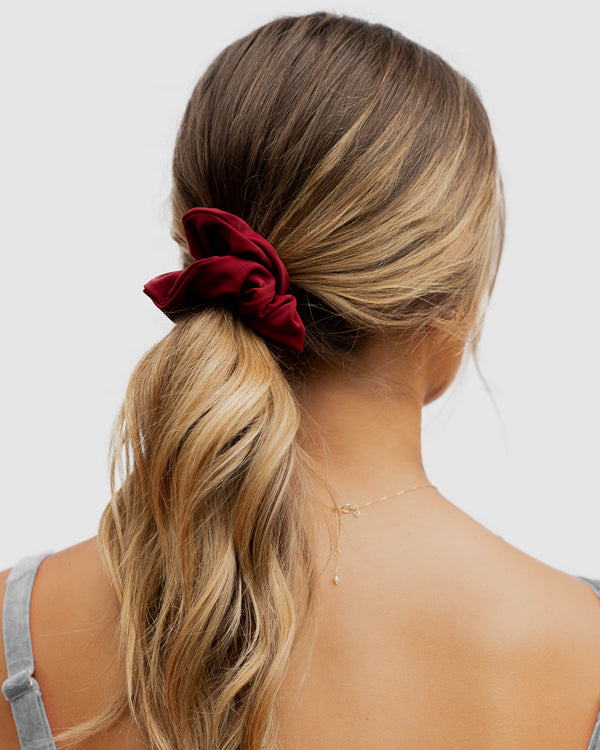 Capri Red Pomegranate Scrunchie