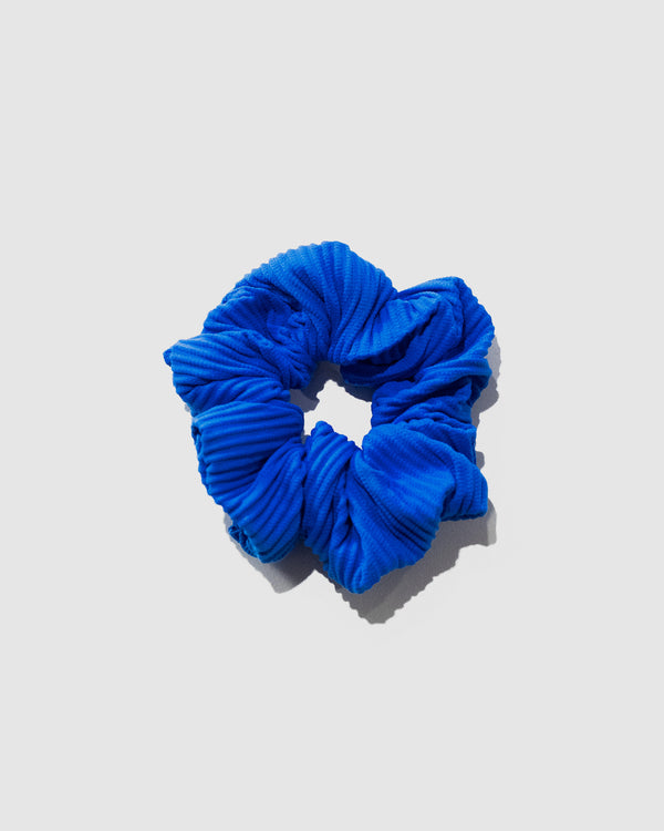<b>Tahiti</b><br>Blueberry Ribbed Scrunchie<br>Sustainable Australian Swimwear