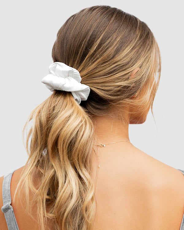 <b>Tahiti</b><br>Pina Colada Ribbed Scrunchie<br>Sustainable Australian Swimwear