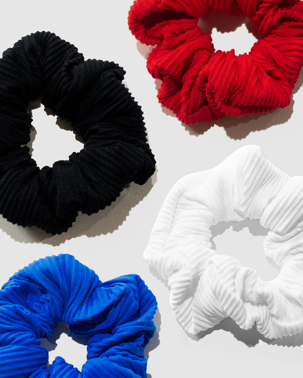 Tahiti Ribbed Scrunchie 4-Pack