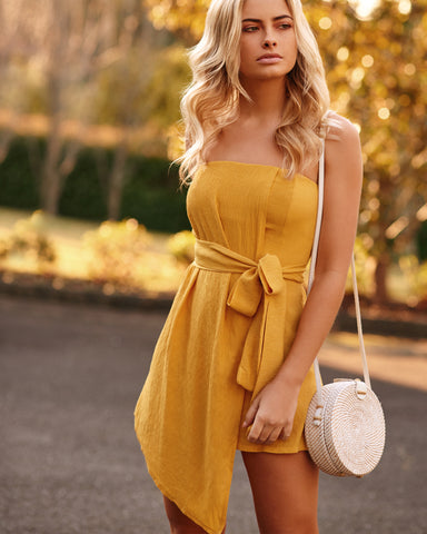 <b>Cartagena</b><br>Mustard Sunflower Playsuit
