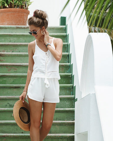 <b>Maldives</b><br>White Daisy Playsuit Set