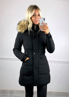 Jude Longline Padded Coat - Black