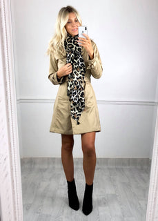 Gemma Double Breasted Mac Jacket - Beige