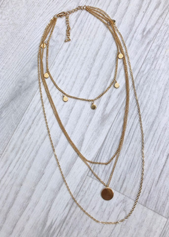 Gold Layered Coin Necklace