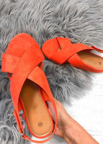 Kennedy Sling Back Sandal - Orange