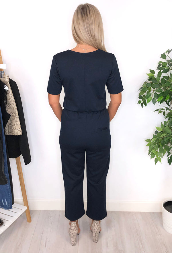 Oti Wrap Jumpsuit - Navy