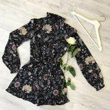 Rebecca Floral High Neck Playsuit