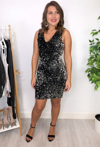 Genesis Silver Sequin Dress