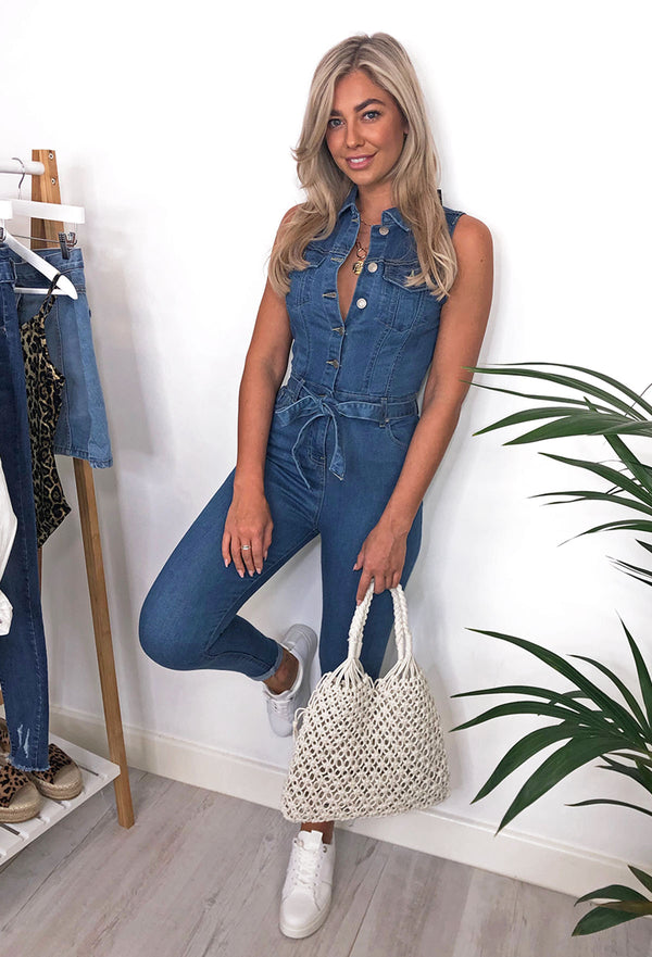 Sabrina Denim Jumpsuit