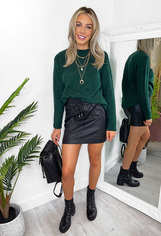 Renee Cosy Knit Jumper - Dark Green