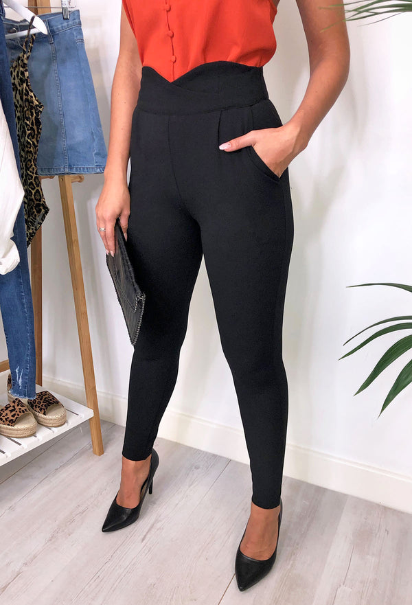 Jenna High-Waist Detail Trousers