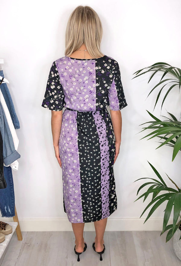 Allegra Wrap Midi Dress - Lilac