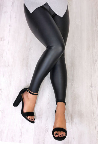 Sexy Pants Leather Look Leggings