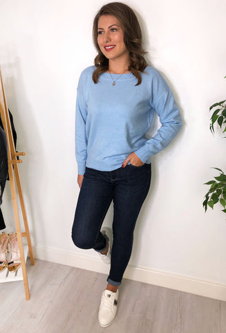 Zahara Knitted Jumper - Blue
