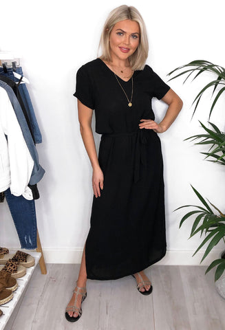Ichi Millie Maxi Dress - Black