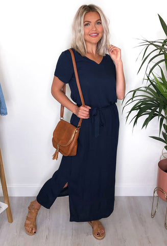 ICHI Millie Maxi Dress - Navy