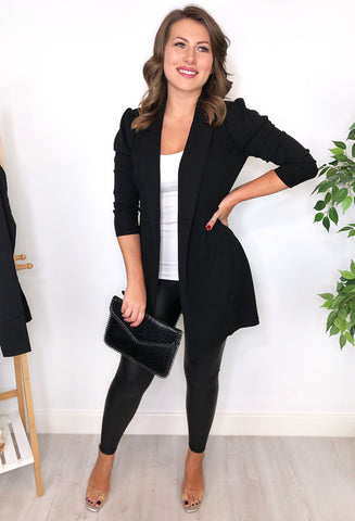 Evangeline Blazer Dress - Black