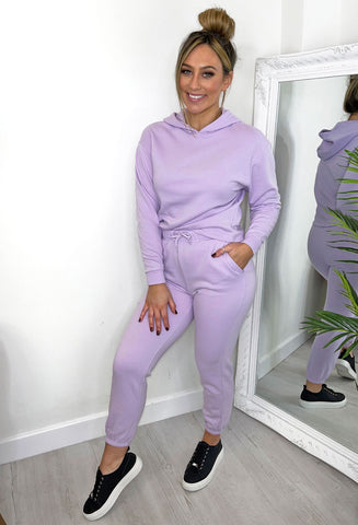 ONLY Comfy Loungewear Hoody Top - Lilac