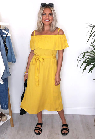 Ichi Marrakech Dress - Yellow