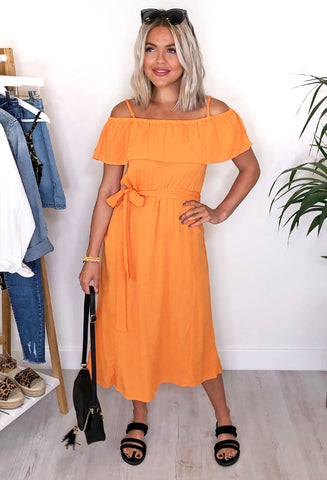 Ichi Marrakech Dress - Russet Orange