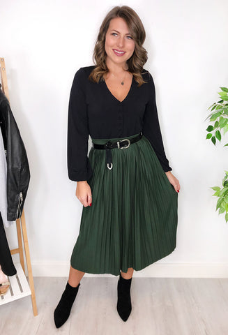 Radley Pleated Skirt - Green