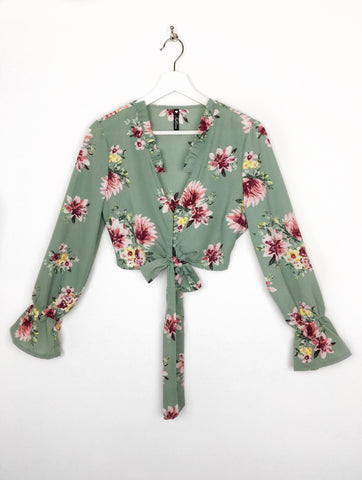 Fay Floral Cropped Blouse