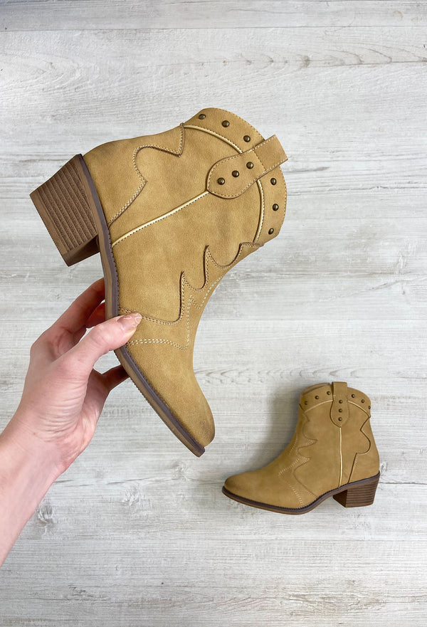 Fabs Shania Western Boots - Camel