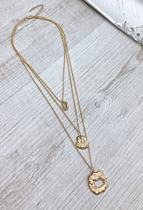 Cam Layered Necklace - Gold