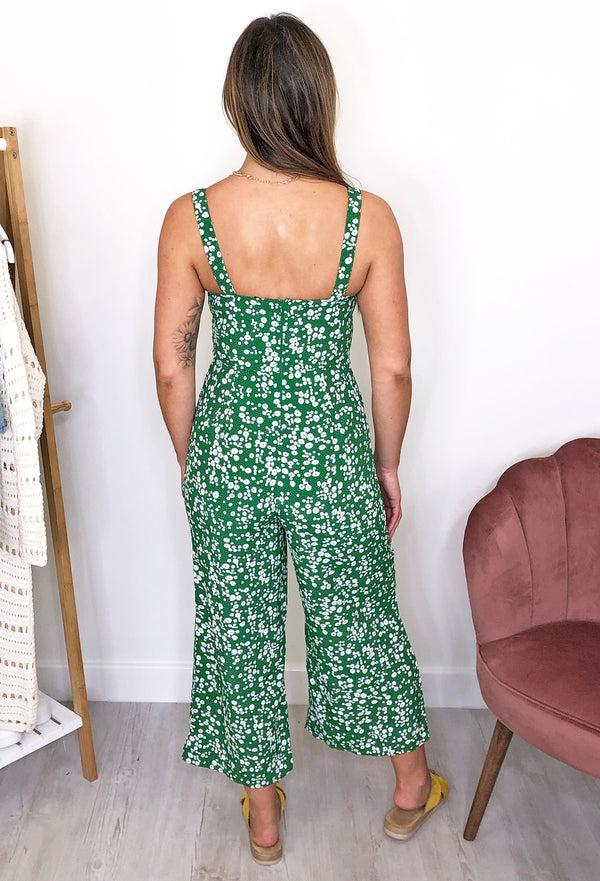 Louisa Culotte Jumpsuit - Green
