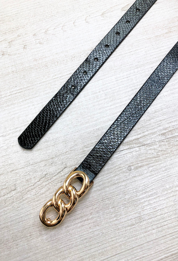 Tamar Link Belt - Black