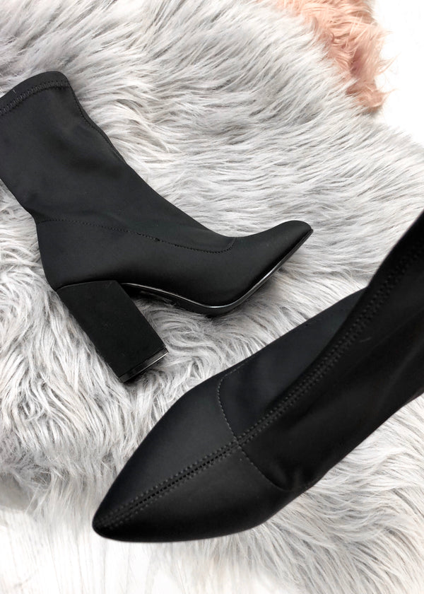 Aubrey Black Stretch Boots