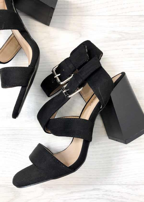 Morgan Strap Sandal - Black