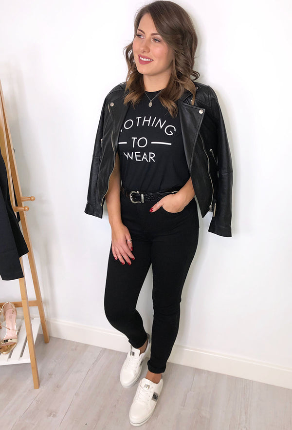 Charlie High Waisted Jeans - Black