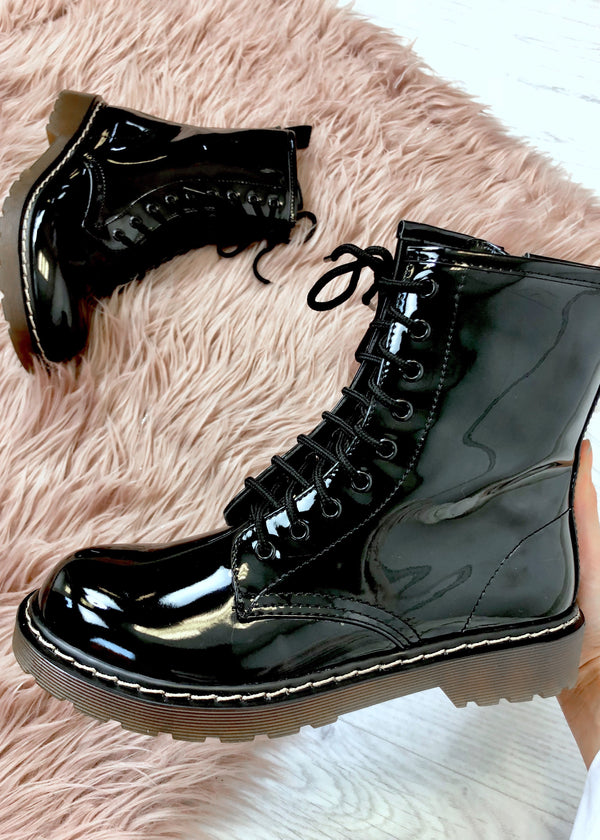 Tiffany Black Patent Boots