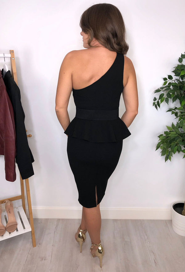 Annabelle Peplum dress - Black