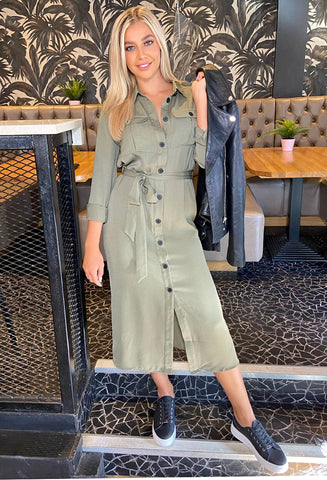 ONLY Maddy Midi Shirt Dress