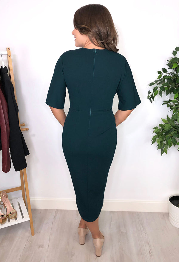 Kaye Ruched Dress - Teal