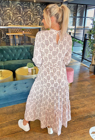 Ichi Luxury Love Long Sleeved Maxi Dress