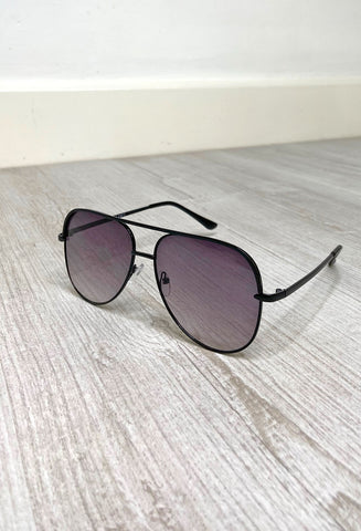 Luna Sunglasses - Solid Black