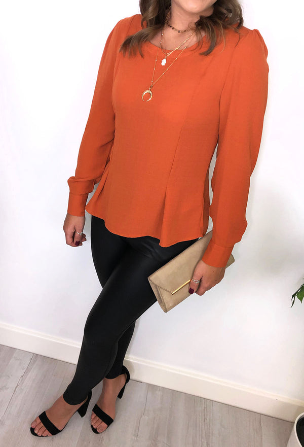 Ichi Autumn Blouse - Rust
