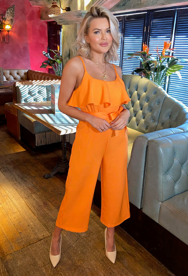 Halo Jumpsuit - Orange